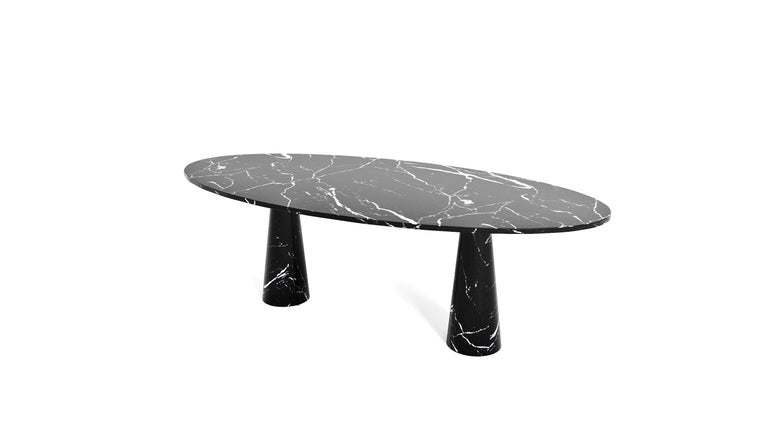 Turkish Idee Dining Table, Contemporary Oval Marble Table by Christophe Pillet For Sale
