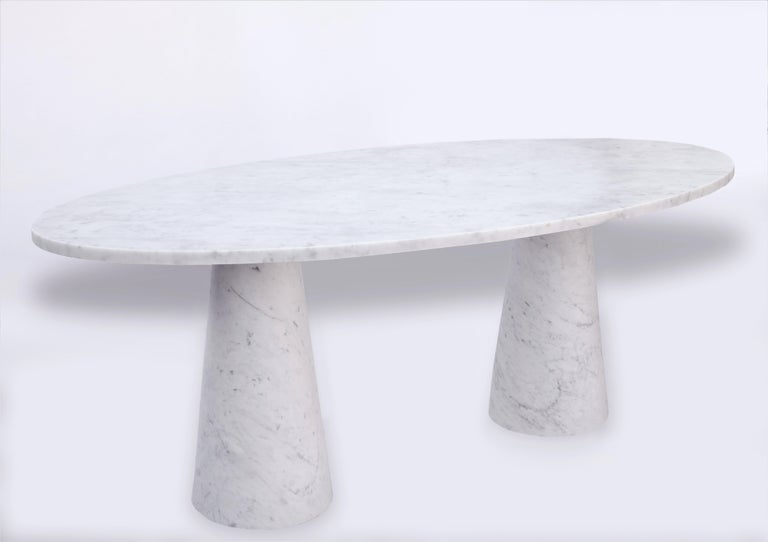 Asian Idee Dining Table, Contemporary Oval Marble Table by Christophe Pillet For Sale