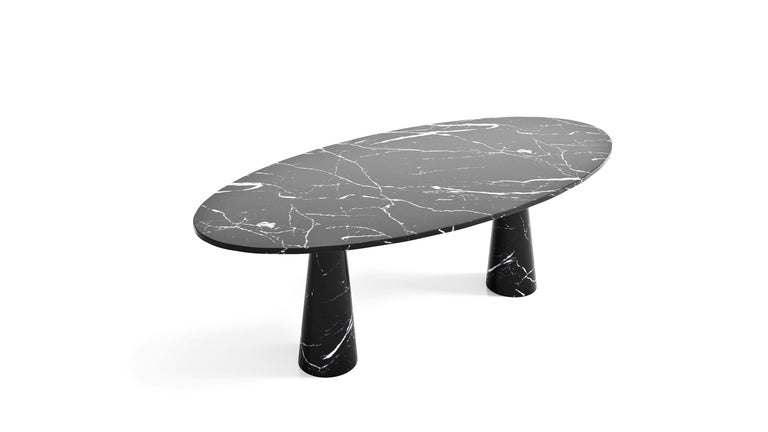 Idee Dining Table, Contemporary Oval Marble Table by Christophe Pillet In New Condition For Sale In New York, NY