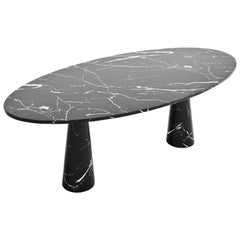 Idee Dining Table, Contemporary Oval Marble Table by Christophe Pillet