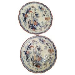 Identical Pair of 19th Century Ironstone China Plates