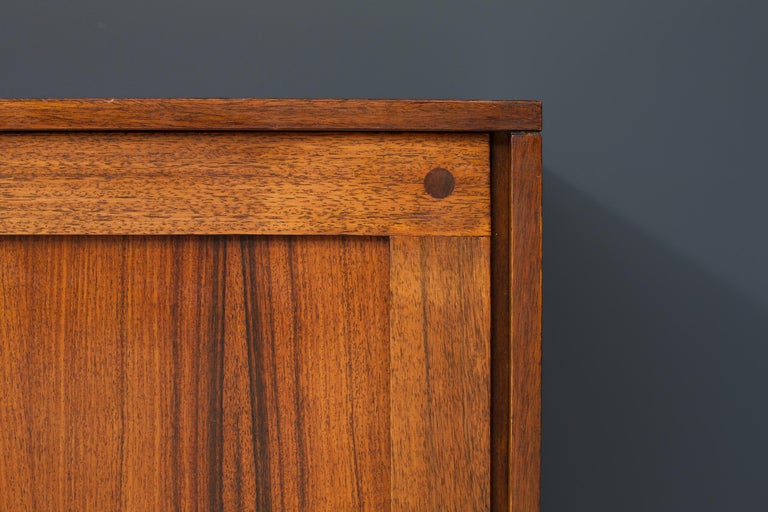 Idiosyncratic Italian Credenza with Flared Feet in Rosewood, 1970s For Sale 2