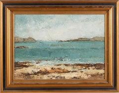 Vintage French Modernist Landscape Signed Original Oil Painting Turkish Art
