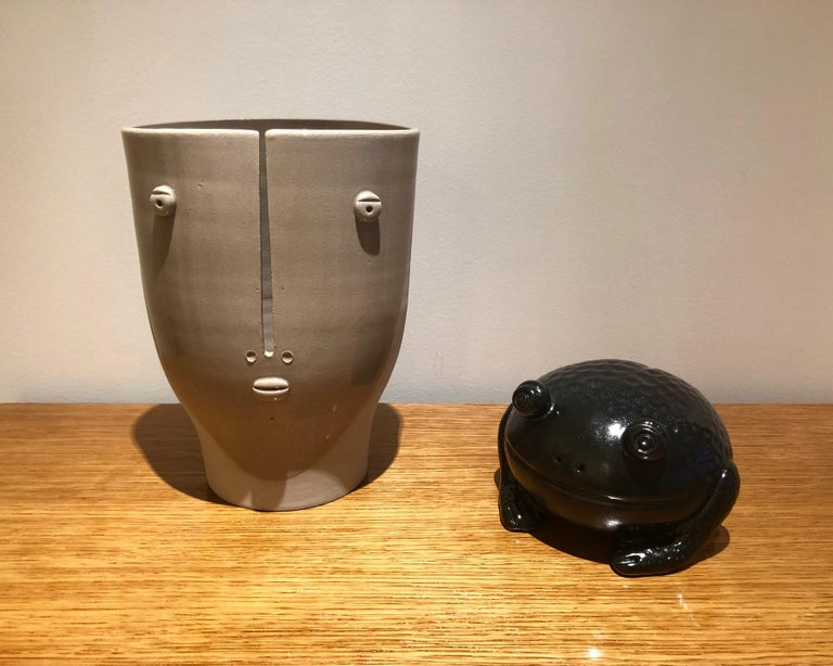 Idole Ceramic Vase Signed by Dalo In Excellent Condition For Sale In Paris, FR