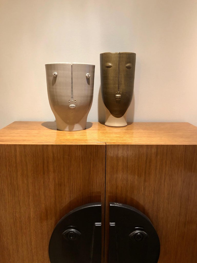 Contemporary Idole Ceramic Vase Signed by Dalo For Sale