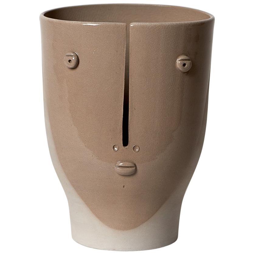 Idole Ceramic Vase Signed by Dalo