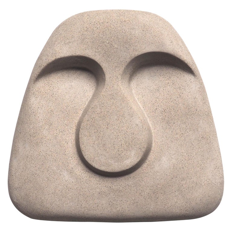 Idoli Mask Plaster Wall Sculpture For Sale