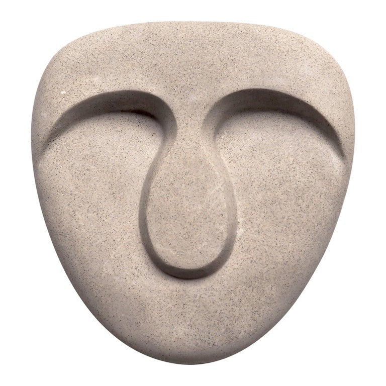 Idoli, Mask Wall Plaster Sculpture For Sale