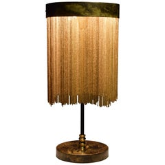 IDRIA-T3 Brass Chain Table Lamp, Flow 2 Collection