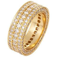 IF & Co Massimo 1 Row Diamond Eternity Ring 7 Estate 18k Gold Ben Baller Jewelry