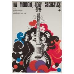 """If I Say I Love You"" Original 1968 Hungarian Film Poster"
