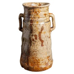Iga-ware Earthenware Flower Container