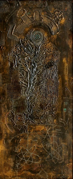 Composition by IGAEL TUMARKIN - Mixed media, large artworks, abstract art, '60s
