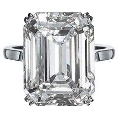 IGI Certified 10.01 Carat Excellent Cut Emerald Diamond Ring