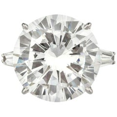 GIA Certified 7 Carat Round Brilliant Cut Diamond Ring