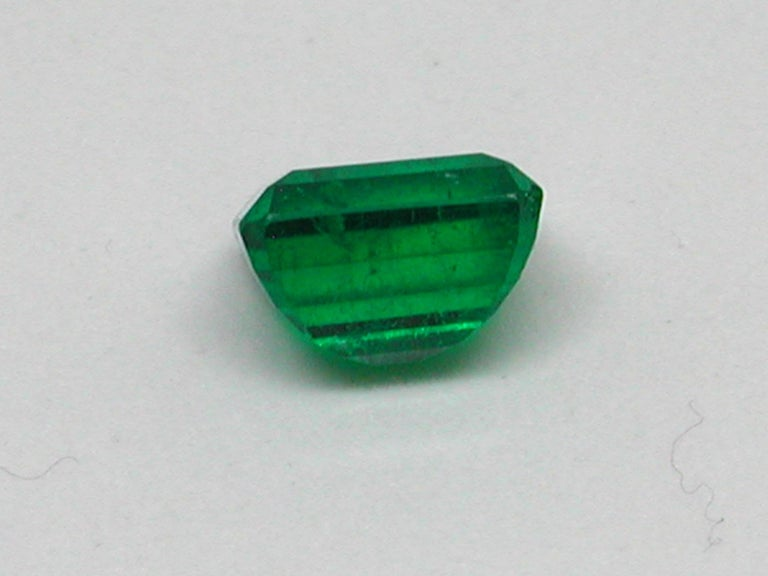 IGI Certified 10.42 Carat Colombia Green Emerald For Sale 2