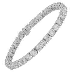 IGI Certified 14.60 Carat Diamond Tennis Bracelet