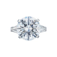 IGI Certified 3 Carat Round Brilliant Cut Diamond Platinum Ring