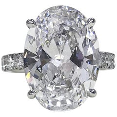 GIA Certified 4.50 Carat Oval Diamond Platinum Ring