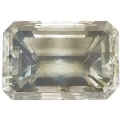 IGI Certified 5.51 Carat Emerald Cut Fancy Gray Loose Diamond