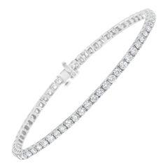 IGI Certified 7.0 Cttw Diamond 14k White Gold Classic Tennis Bracelet