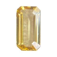 IGI Certified Ceylon Yellow Sapphire 1.31ct Emerald Cut Sri Lanka Loose Gemstone