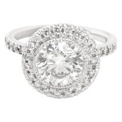 IGI Certified Diamond Ring in 14 Karat White Gold '1.90 Carat H-I/SI1-SI2'
