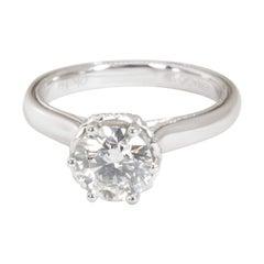 IGI Certified Verragio Diamond Ring in 18 Karat White Gold I VVS2 1.11 Carat