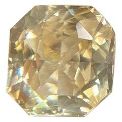 IGI Certified Yellow Sapphire 1.09 Carat Square Brilliant Cut Loose Gemstone