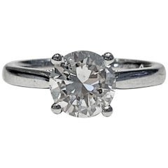 IGL Certified 1.64 Carat Brilliant Cut Diamond Set in a Platinum Ring