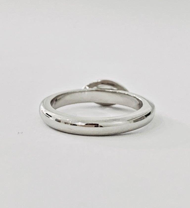 Contemporary IGL Certified .75 Carat Marquise Cut Diamond Platinum Ring For Sale