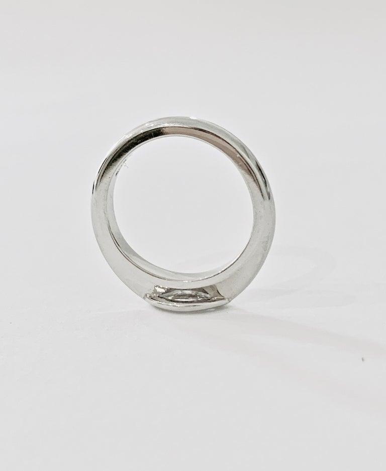 IGL Certified .75 Carat Marquise Cut Diamond Platinum Ring For Sale 1