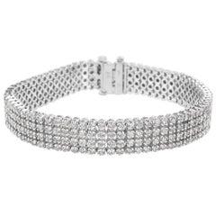 IGL Certified Diamond Tennis Bracelet in 14K White Gold G-H SI1-SI2 '7.00 CTW'
