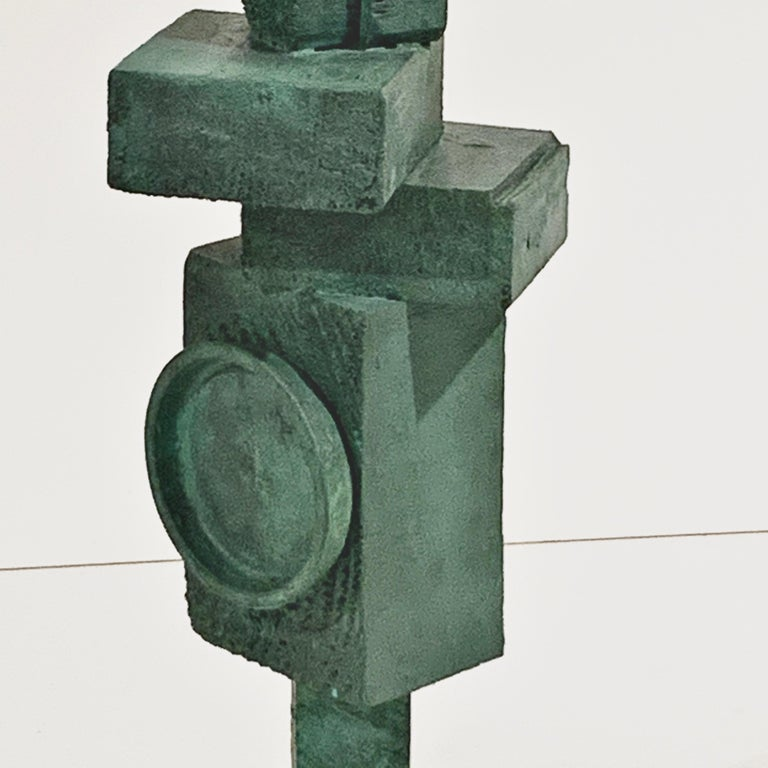 'Ignacio' Tall TOTEM Sculpture with Weathered Bronze Finish by Judy Engel For Sale 4