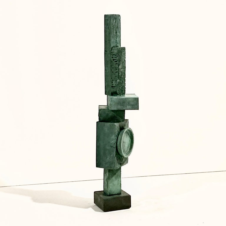 'Ignacio' Tall TOTEM Sculpture with Weathered Bronze Finish by Judy Engel For Sale 8