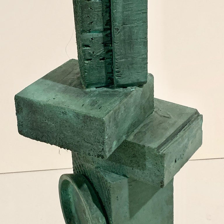 'Ignacio' Tall TOTEM Sculpture with Weathered Bronze Finish by Judy Engel In New Condition For Sale In Hudson, NY