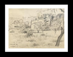 1970-BARCELONA landscape original grawing painting