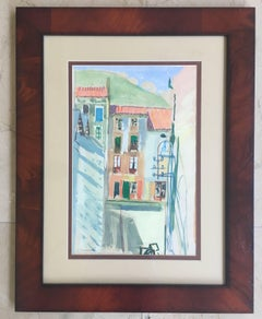 BARCELONA STREET. original watercolor painting