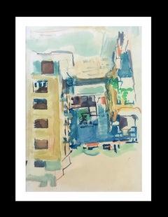 BARCELONA STREET original watercolor painting