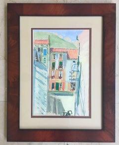 BARCELONA STREET. original watercolor painting