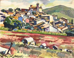 Ignasi Mundo spanish village landscape original oil canvas painting