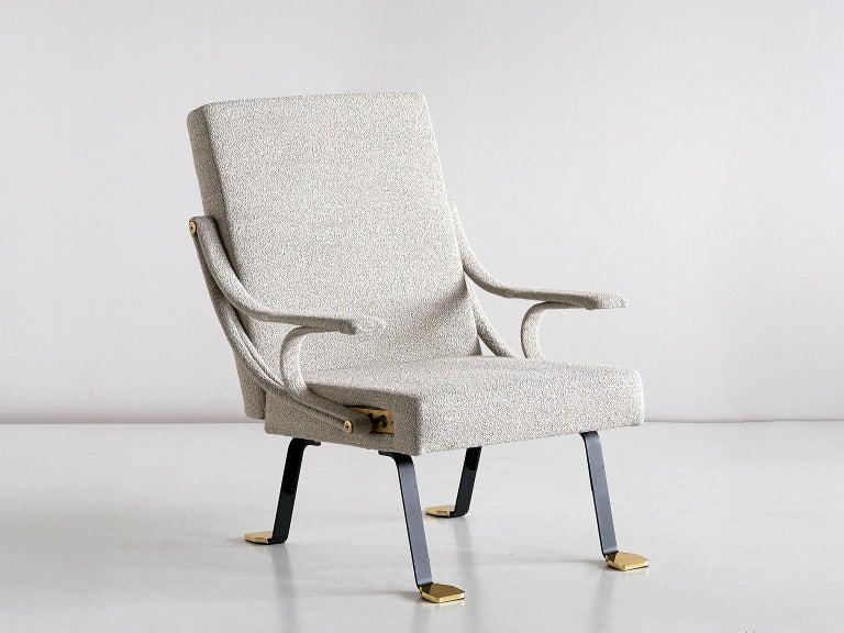 Modern Ignazio Gardella 'Digamma' Armchair in Beige Raf Simons Kvadrat Bouclé Fabric For Sale
