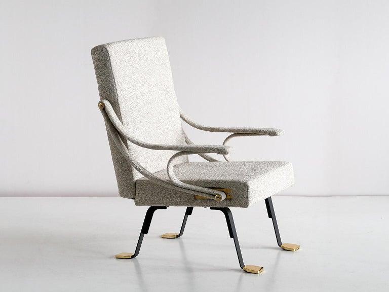 Spanish Ignazio Gardella 'Digamma' Armchair in Beige Raf Simons Kvadrat Bouclé Fabric For Sale