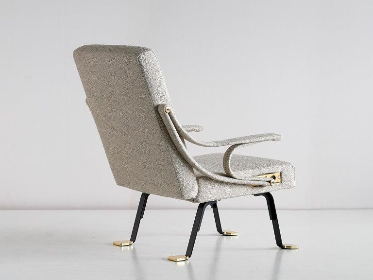 Contemporary Ignazio Gardella 'Digamma' Armchair in Beige Raf Simons Kvadrat Bouclé Fabric For Sale