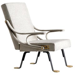Ignazio Gardella 'Digamma' Armchair in Beige Raf Simons Kvadrat Bouclé Fabric