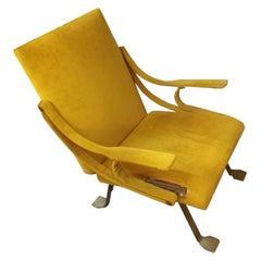 Ignazio Gardella Digamma Armchair in Original Yellow Fabric
