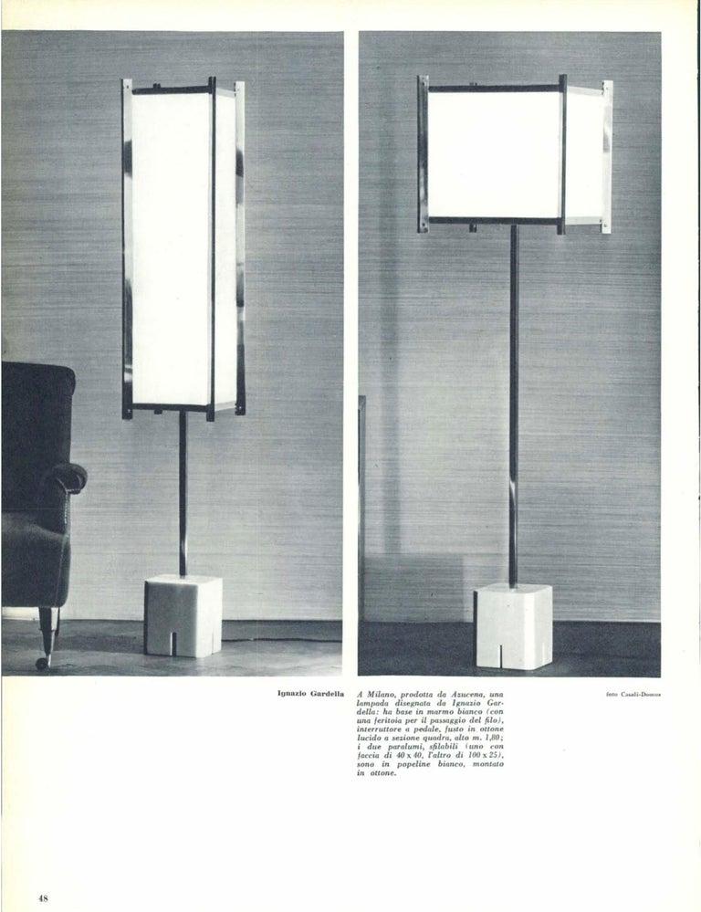 Ignazio Gardella LTE12 Prisma Floor Lamp, Azucena, 1960s For Sale 4