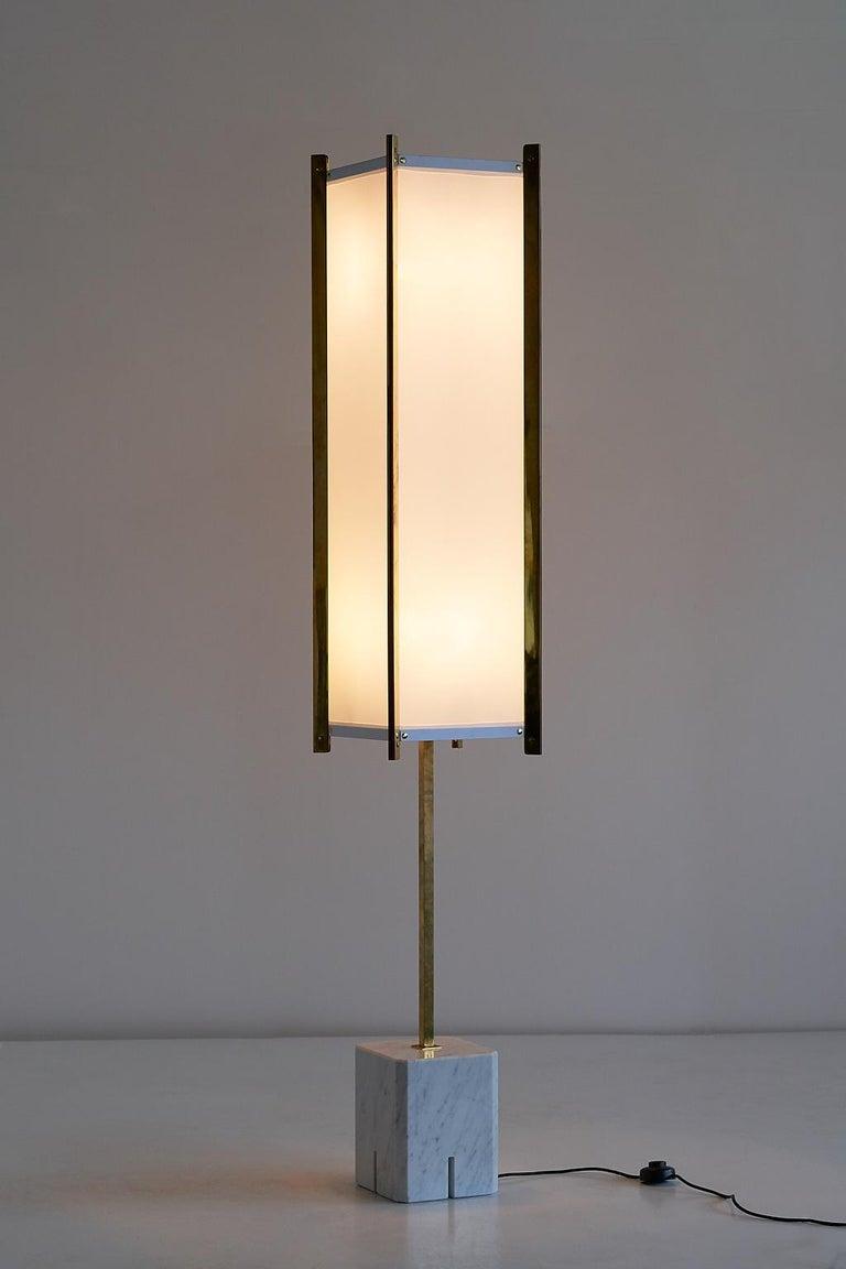 Lacquered Ignazio Gardella LTE12 Prisma Floor Lamp, Azucena, 1960s For Sale