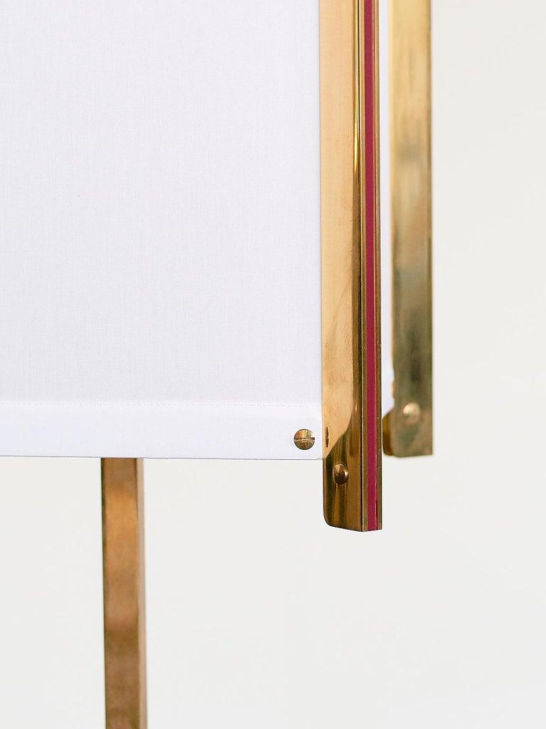 Brass Ignazio Gardella LTE12 Prisma Floor Lamp, Azucena, 1960s For Sale