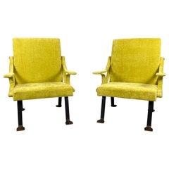 "Ignazio Gardella Mid-Century Modern Model ""Digamma"" Italian Pair of Armchairs"